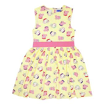 Peppa Pig Peppa & Suzy Girl&apos Pretty Pink és Sárga Party Dress (1-6)