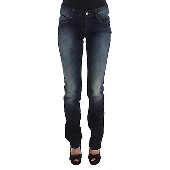 Costume National Blue Cotton Slim Fit Bootcut Jeans