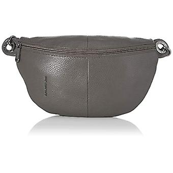 Mandarin Duck Mellow Leather Bum Bag Women Grey Shoulder Bag (Smoked Pearl) 30x16x10 cm (W x H x L)