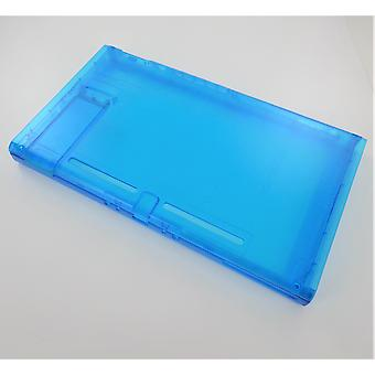 Housing shell for nintendo switch console with stand replacement hard casing front & back - clear blue | zedlabz