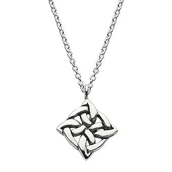 Kit Heath Heritage Sterling Silver Celtic Square Knot Necklace 92037HP026