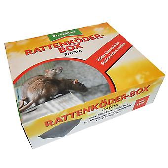 DR. STÄHLER Ratzia Rat bait box black, 1 piece