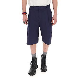 Maison Flaneur 20smupa120tc127darkblue Men's Blue Cotton Shorts