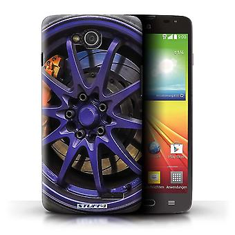 STUFF4 Case/Cover for LG L90 Dual/D410/Purple/Orange/Alloy Wheels