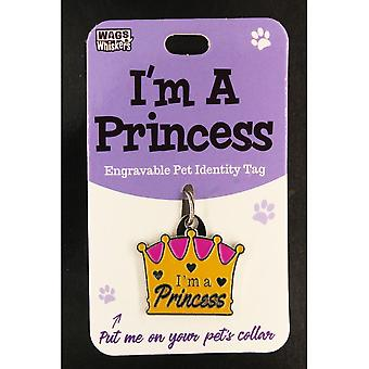 Wags & Whiskers Pet Identity Tag - Prinzessin