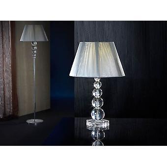 Schuller Mercury - Grande lampe de table d'une lumière faite avec du matériel acrylique, type de méthacrylate clair. Resserrer l'ombre du fil en couleur argentée, doublée à l'intérieur. Plug type G (Royaume-Uni). - 661418 Royaume-Uni
