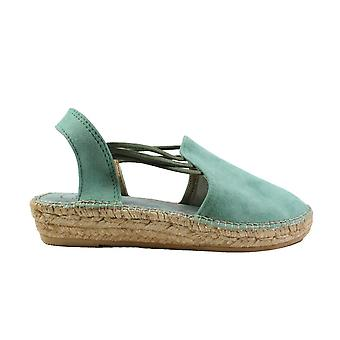 Toni Pons Nuria Mint Suede Leather Womens Pull On Espadrille Shoes