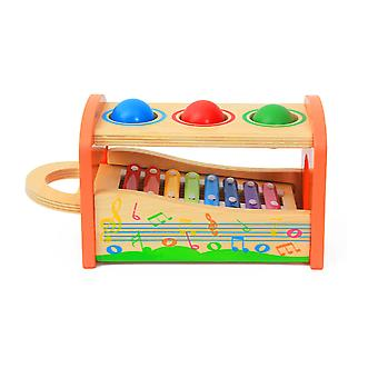 Wooden Xylophone And Hammer Toy - Musical Toy For Children - Educational And Fun !
