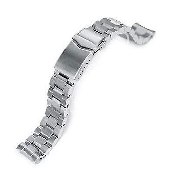Strapcode watch bracelet 20mm hexad oyster 316l stainless steel watch band for seiko mm300 prospex marinemaster sbdx001, v-clasp button double lock