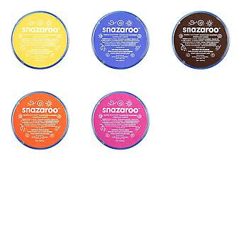 Snazaroo Face Paint Tub (Pack Of 5)