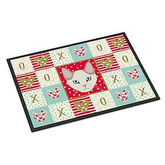 Korean Bobtail Cat Love Indoor or Outdoor Mat 18x27
