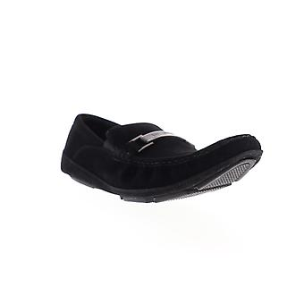 Unlisted by Kenneth Cole Tri State SY Mens Black Wide Casual Loafers Shoes