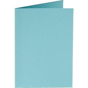 Papicolor Doub.Card square 13,2cm azure-blue 200gr 6 pc 310904- 132x132 mm