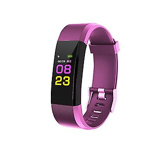 ID115 Plus activity wristband with color Display-purple