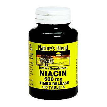 Nature's blend niacin 500 mg, time released, tablets, 100 ea