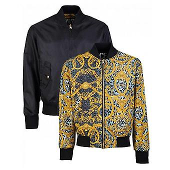 Versace Jeans Couture Reversible Leo Chain Print Nylon Jacket