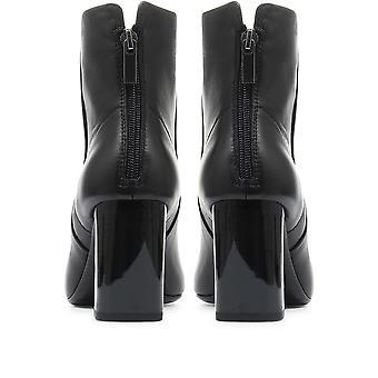 Jones Bootmaker Womens Eliana Heeled Leather Ankle Boot