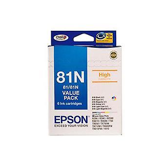 Epson 81N Value Pack Black Cyan Magenta Yellow L Cyan L Magenta
