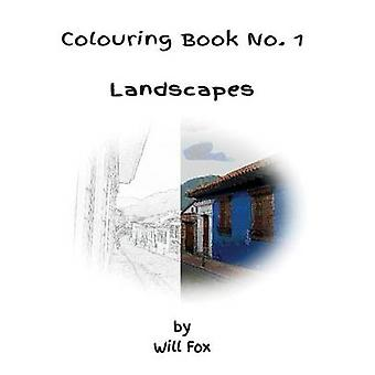 Colouring Book No. 1  Landscapes by Fox & Will