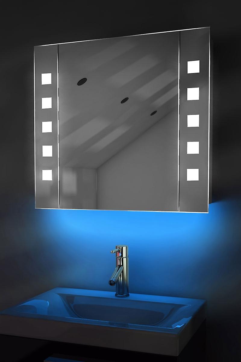 Auto Colour Changing Demist Cabinet With Shaver & Sensor K63Rgb