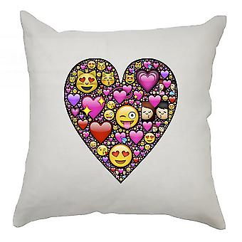 Emoji Cushion Cover 40cm x 40cm Heart 3