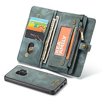 CaseMe beschermhoes mobiele telefoon geval voor Samsung Galaxy S9 G960F tas + case blauw