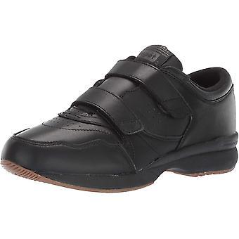 Propet Women's Cross Walker LE Strap Sneaker, Black, 7.5 D US