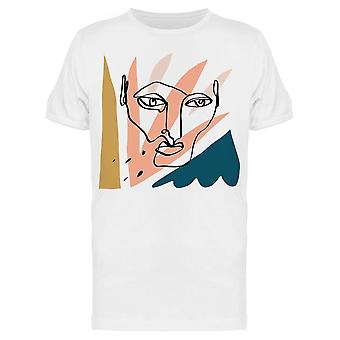 Abstract Face One Line Tee Men's -Image by Shutterstock