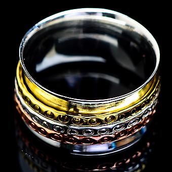 Meditation Spinner Ring Size 6 (925 Sterling Silver)  - Handmade Boho Vintage Jewelry RING4738