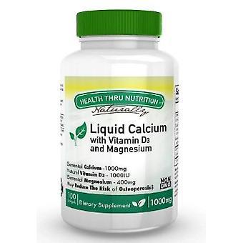 Calcium 1000 mg / Magnésium 400 mg - 1000iu D3 (non-OGM) (100 Softgels) - Health Thru Nutrition