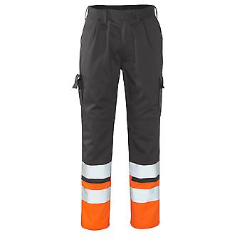 Mascot patos hi-vis work trousers 12379-430 - safe compete, mens -  (colours 1 of 2)