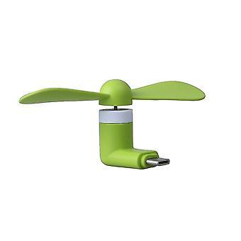 Meizu M6s (Micro USB - grön) Bärbar fickstorlek USB Mini Fläkt