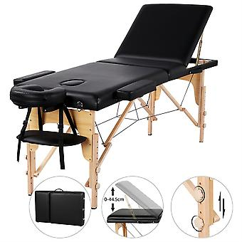 Portable Massage Table Adjustable Hight Backrest 3 Sections Facial Slaon SPA Bed