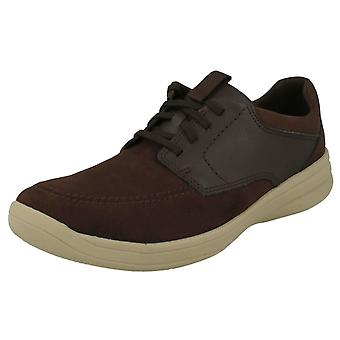 Mens Cloud Steppers Door Clarks Lace Up Schoenen Stap Stroll Lace
