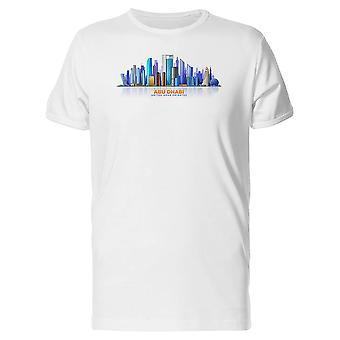 Abu Dhabi Arabische Emirate Skyline T-Shirt Herren-Bild von Shutterstock
