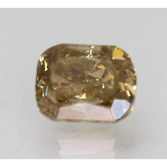 Cert 2.59 Carat Int Brown VS2 Cushion Natural Loose Diamond For Ring 8.57x6.75mm