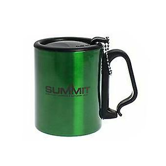 Summit Geïsoleerde Mok met Carabiner Handle Travel met Lid Outdoor Camping - 1 Unit Green Mug