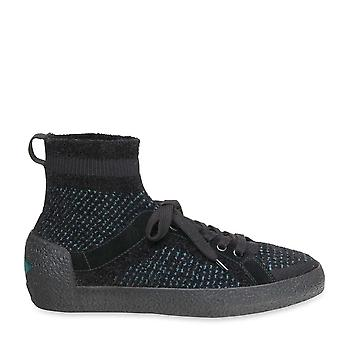 Ash Footwear Ninja Tweed Black And Blue Trainers