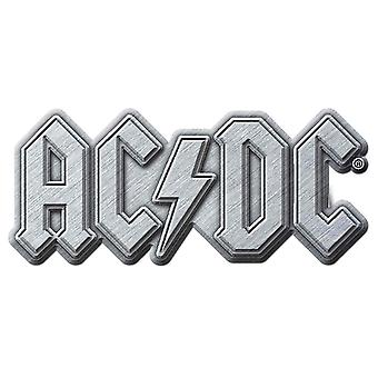 AC/DC Pin Badge classic Silver Band Logo new Official Metal Lapel