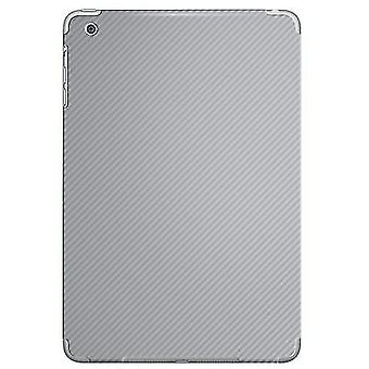 Carbon Fibre Vinyl Back Sticker Wrap for iPad Mini 2 & 1[Silver]