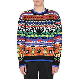 Moschino 091752081298 Männer's Multicolor Wollpullover