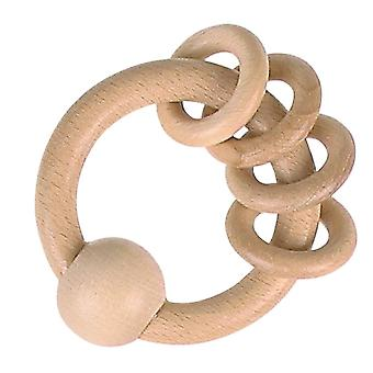 Heimess Touch Ring Rattle + 4 Natural Rings