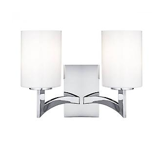 Gina Wall Lamp, In Chrome And Glass