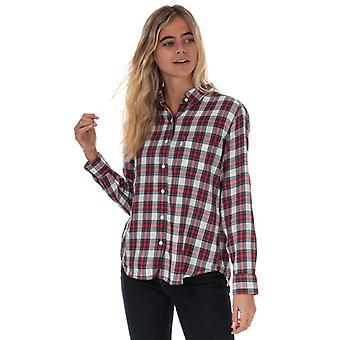 Women's Levis Ultimate Boyfriend Shirt in Red