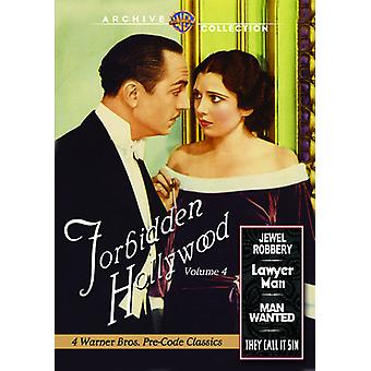 Forbudte Hollywood Collection: Vol. 4 [DVD] USA importerer