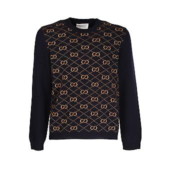 Gucci 626288xkbfb4795a Men's Black Wool Sweater