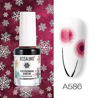 Air Dry Nail Polish Ice Flower Lacquer For Nail Art Decoration Need White Base Coat