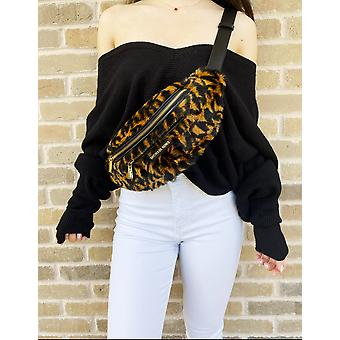 Michael kors mott belt waist bag shoulder fanny pack leopard print hair