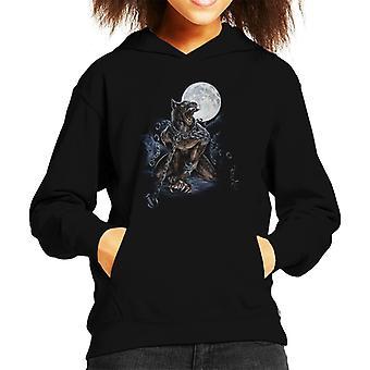 Alchemie geketend Werewolf Kid ' s Hooded Sweatshirt