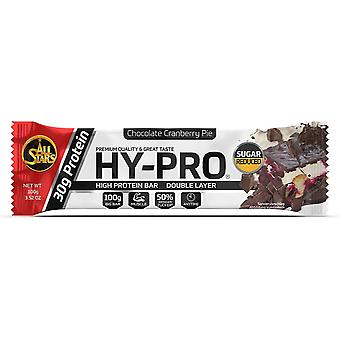All Stars Hy-Pro bar Chocolate Cranberry Pie 24 x 100 gr